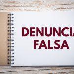 Denuncia Falsa