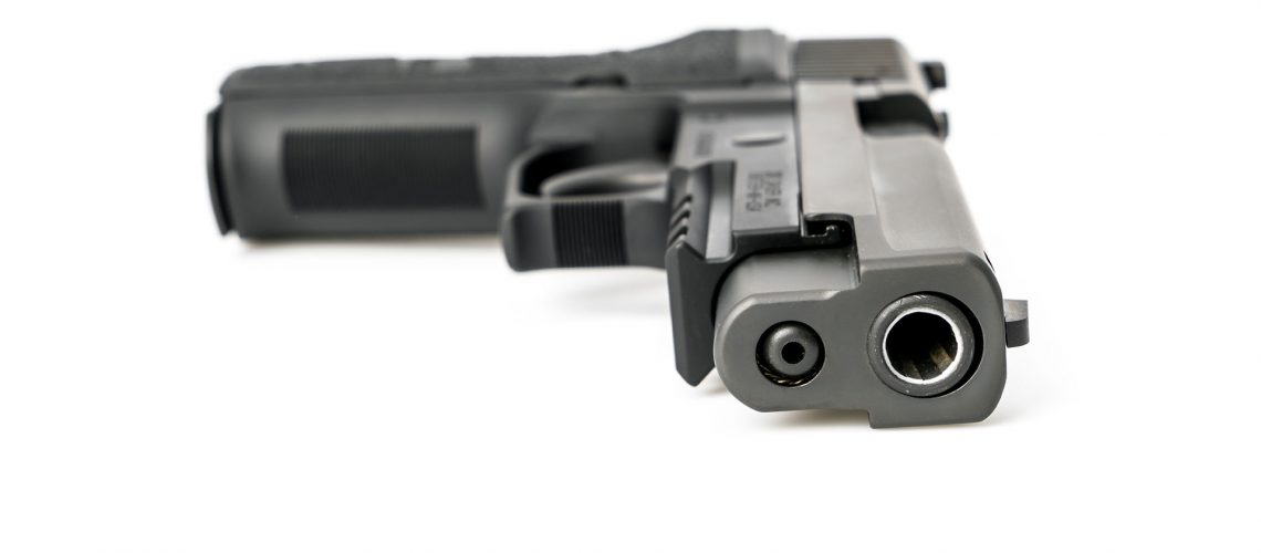 Gun isolated on white background .